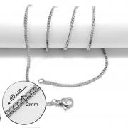 Csavart nemesacél nyaklánc (45 cm)