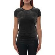 Giorgio Armani T-shirt manica corta girocollo Nero/argento Poliestere Donna