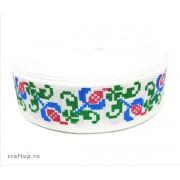 Bandă decorativă -Tafina 25mm- trandafir albastru (rolă 25m)