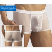 Svenjoyment Transparent Gloss Swell Boxer Brief Underwear White 2130440