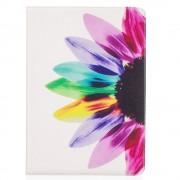 Shop4 - iPad Pro 10.5 Hoes - Book Cover Kleurrijke Bloem Wit