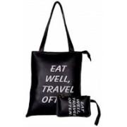 Multi-Zone Women Black Shoulder Bag