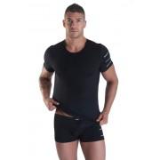 Lookme ROADSTER Sleeve Stripes Short Sleeved T Shirt Black 24-81