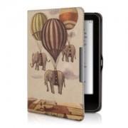 kwmobile Flipové pouzdro s designem slon pro Tolino Vision 1 / 2 / 3 / 4 HD - béžová