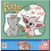 "FURBY "" ee-day ah-may! "" with dog 24 piece puzzle 10"" x 13"" MB Puzzle / Hasbro"