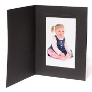 10x8 / 8x10 Rhapsody Black Photo Folder - Portrait
