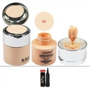 Mars Cinema Cover TV Make-up 02 Foundation (Powder Cream) 50ml With Free LaPerla Kajal