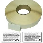 Peel off etiketter rulle öppna o läs varningstexten 31 75-63 5mm TYSK/SWE 1650 per rulle