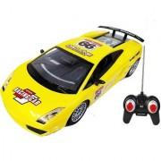 Emob 27MHZ High Speed Super Power Cyclone Sports Rally Racing Remote Control Car With Rechargeable Battery (Yellow)