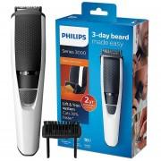 Cortador de barba Philips serie 3000 BT3206/14 con uso inalámbrico de 45 minutos/carga 10 h de acero inoxidable cuchillas para los hombres(Blanco)