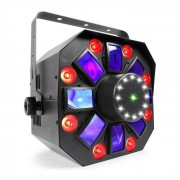 Beamz MultiAcis IV LED Derby, Laser, Wash y strobo DMX y modo Stand Alone (Sky-153.671)