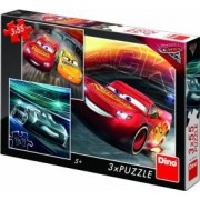 Puzzle 3 in 1 Dino Toys Cars 3 Cursa cea mare 55 piese Multicolor