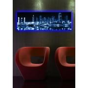 Tablou pe panza iluminat Shining, 239SHN1256, 30 x 90 cm, panza