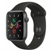 Apple SmartWatch APPLE Watch Series 5 GPS Koperta 44 mm z aluminium w kolorze gwiezdnej szarości z paskiem sportowym w kolorze czarnym MWVF2WB/A
