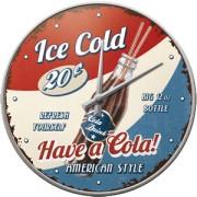 Ceas de perete - Have a Cola - Pepsi Cola - Ø31 cm