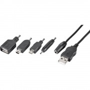 Adapterski kabel za mobitel [1x USB 2.0 utikač A - 5x USB 2.0 ženski utikač A, mini-A-USB utikač, mikro USB utikač, Nokia 2 mm u