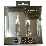 Volkano Slim Series 3.5mm 2M Aux Cable - Black