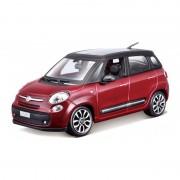 Bburago Modelauto Fiat 500 L rood schaal 1:24/17 x 7 x 7 cm