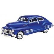 Motormax 1948 Chevy Aerosedan Fleetline Blue 73266AC