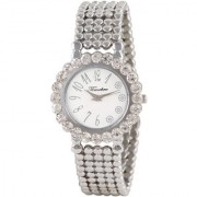 Timebre Round Dial Silver Metal Analog Watch For Women