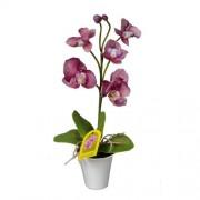 Orhidee artificială în ghiveci, violet, 35 cm