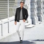 van Laack Leinen-T-Shirt, 56 - Grau