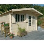 Abri de jardin bois RIGNITZ 16.2 m2 - EP. 40 mm