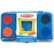 Acuarele Jumbo set de 8 culori cu pensula Melissa and Doug