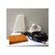 Kit Antena Amplificador De Señal Celular 80 DB Doble Banda GSM / CDMA 3G 850-1900 Mhz