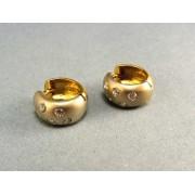 Zlaté náušnice dvojfarebné s kamienkami DA546