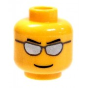 LEGO Minifigure Parts SunGlasses with Cool Expression [Yellow Flash Male Loose]