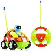 PowerLead RC Cartoon Cars with Action Figure Radio Control Toy Radio Controlled cars with Music Best Christmas Gift for Toddlers Kids