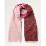 Boden Rosa/Bunt Wollschal mit Fischgrätmuster Damen Boden, Eine Größe, Pink