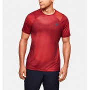 Under Armour Men's UA RUSH™ HeatGear® Fitted Short Sleeve Printed Red XL