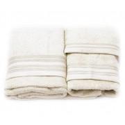 Set de 3 prosoape baie Valentini Bianco TM703/103
