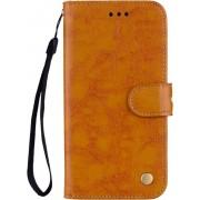 Mobigear Olie Wax Texture Lederen Wallet Book Case Bruin Huawei Mate 20 Pro
