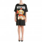 Moschino Vestito abito donna corto miniabito manica corta roman teddy bear