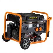 Generator de curent monofazat STAGER GG 7300EW, 6.3 kW, benzina, pornire electrica