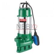 Pompa submersibila apa murdara cu plutitor Verk VDF-450A, 450 W, 6.960 l / h, 10 m cablu, Verde