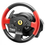 Thrustmaster T150 Ferrari Edition UK Version Steering Wheel & Pedals - Black / Red