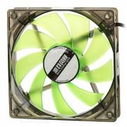 MAIKOU ventilador de refrigeracion de 12 cm con luz verde LED - negro + verde
