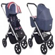 easywalker Duo Mini Stroller New Silver Rodas Pretas Union Jack Easywalker 0m+