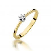 Biżuteria SAXO 14K Pierścionek z brylantem 0,04ct W-111 Złoty RATY 0% | GRATIS WYSYŁKA | GRATIS ZWROT DO 1 ROKU | 100% ORYGINAŁ!!