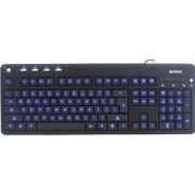 Tastatura A4Tech X-Slim LED iluminata USB Blue
