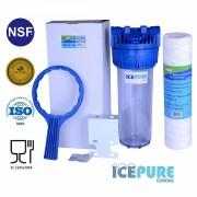 10inch Filterhuisset met Bezinksel Filter van Icepure ICP-PPW10-50