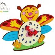 Ceas - Puzzle 3D de colorat pentru copii