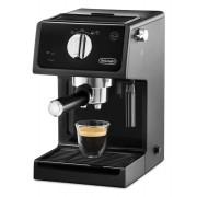 Espressor manual DeLonghi ECP31.21, 1100W, 15 bar, Oprire automată, Sistem manual de spumare a laptelui, Negru