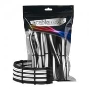 Set cabluri prelungitoare CableMod PRO ModMesh, cleme incluse, Black/White