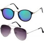 Freny Exim Aviator, Round Sunglasses(Multicolor, Violet)