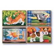 Set 4 Puzzle Lemn In Cutie Animale De Companie Melissa And Doug
